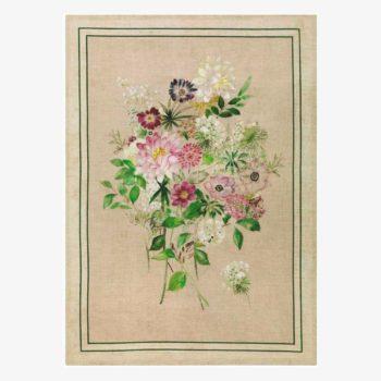 Tea towel La Vie En Rose Green