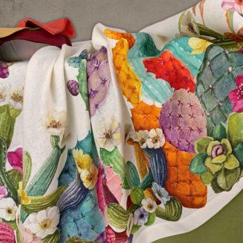 tovaglia di lino Kactus - La Bottega di Casa