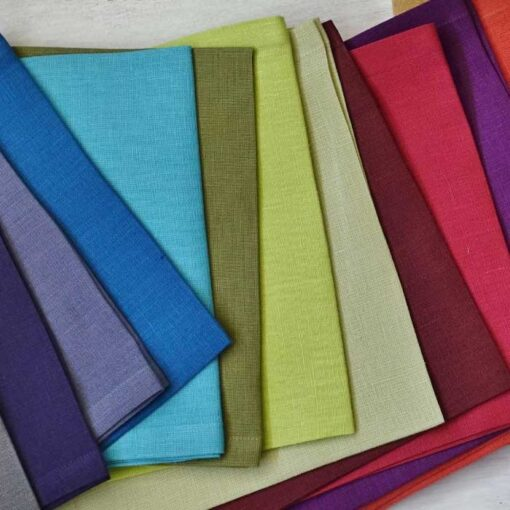 Solid colors linen napkin