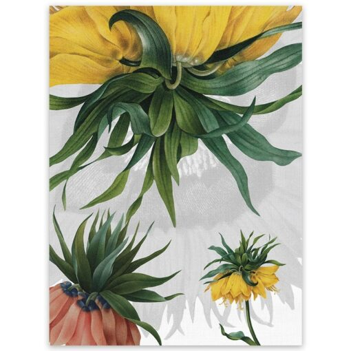 Linen tea towel Fritillaria 1