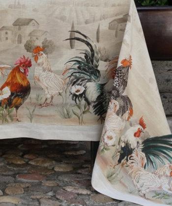 tovaglia di lino galli