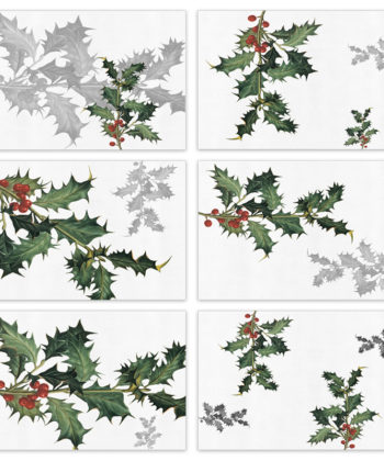 "Set of 6 placemats and napkins ""Ilex"""
