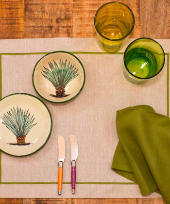 Linen placemat with acrylic coating Cordonetto