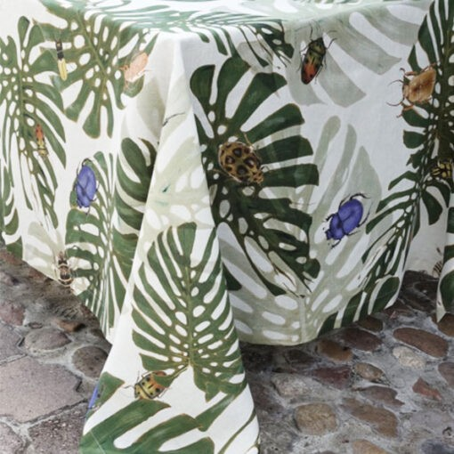 "Linen tablecloth ""Insects"""