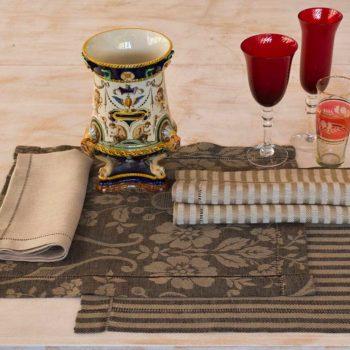 """Linen tablecloth """"Iris Rustica"""""""