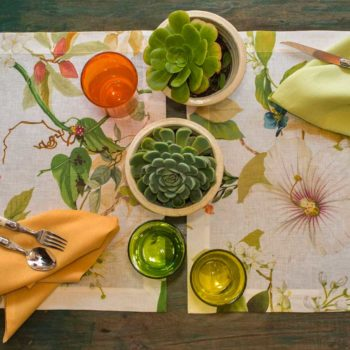 Linen tablecloth with acrylic coating Ibisco