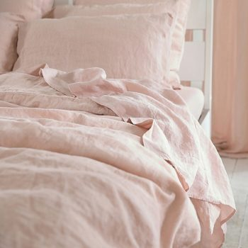 "Bed sheets set ""Stone Washed"" Pink"