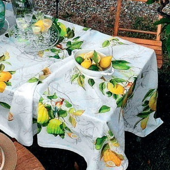 Linen tablecloth Limoncello