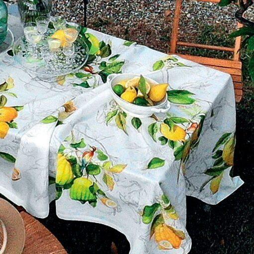Linen tablecloth Limoncello