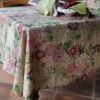 Coated linen tablecloth La Vie En Rose