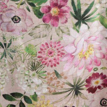 Linen tablecloth with acrylic coating La Vie En Rose