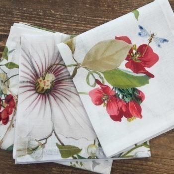 "Linen napkin ""Ibisco"""
