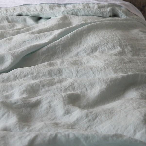 Copripiumino Lino.Copripiumino Stone Washed Ice Blue La Bottega Di Casa
