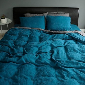 "Duvet cover ""Stone Washed"" Sea Blue"