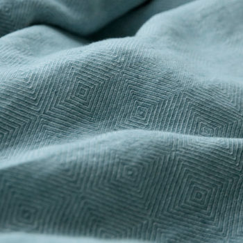 "Duvet cover ""Stone Washed"" Rhombe Blue"