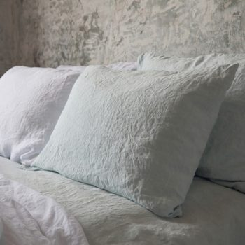 "Bed sheets set ""Stone Washed"" Ice Blue"