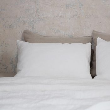 "Bed sheets set ""Stone Washed"" White"