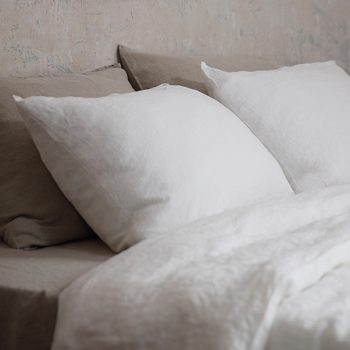 """Completo lenzuola """"Stone Washed"""" Bianco"""