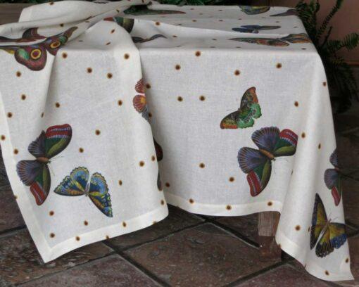 Tovaglia di lino Farfalle