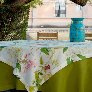 Linen tablecloth Ibisco