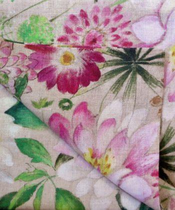 """Linen napkin """"La Vie En Rose"""""""