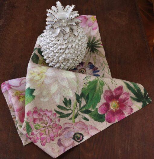 Linen napkin La Vie En Rose