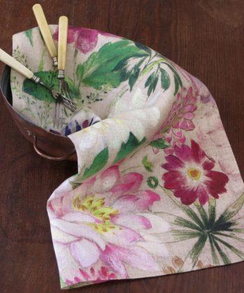 Servilleta de lino la vie en rose