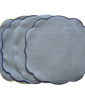 Linen placemat with acrylic coating Cordonetto - Round