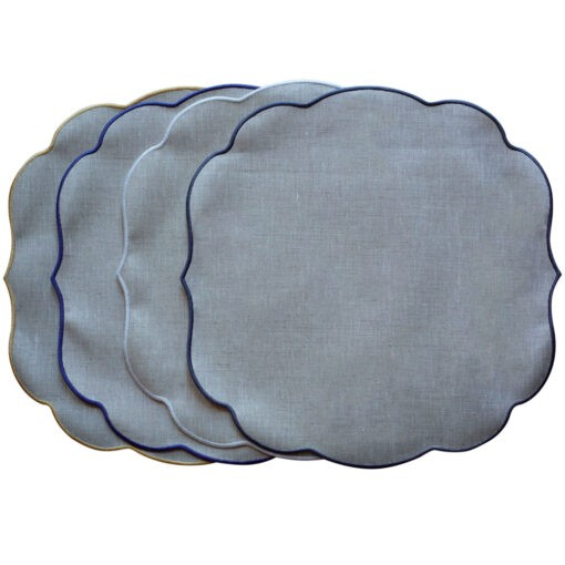 Tovaglietta di lino plastificato con cordonetto – Rotondo