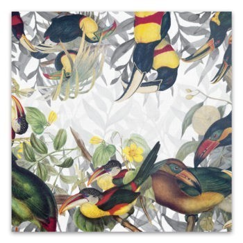 Linen tablecloth Toucans