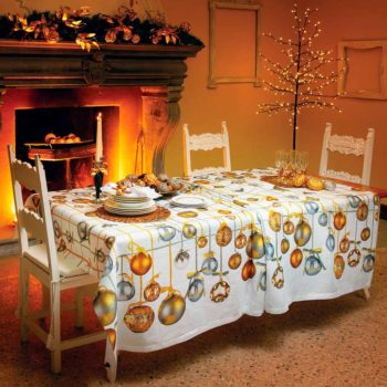 "Linen tablecloth ""Golden Jingle"""