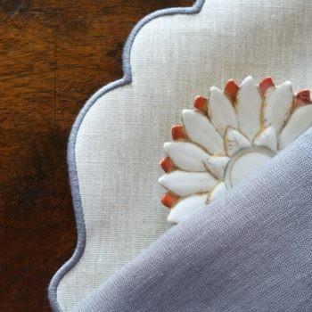 tovaglietta di lino plastificato