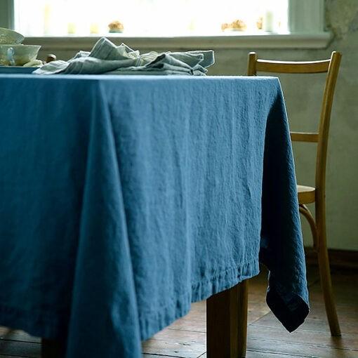 tovaglia stone washed sea blue la bottega di casa