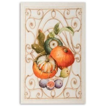 Strofinaccio di lino Zucca - Arancio
