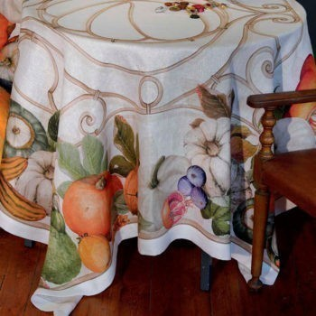 Linen tablecloth Pumpkin