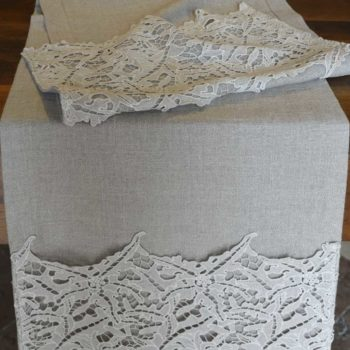 Table runner with lace