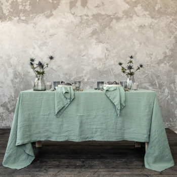 Tovaglia Stone Washed Spa Green
