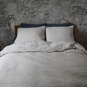 "Duvet cover ""Stone Washed"" Silver"