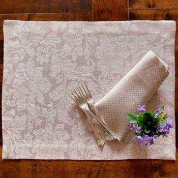 Tovaglietta di lino Narni Rosa la bottega di casa