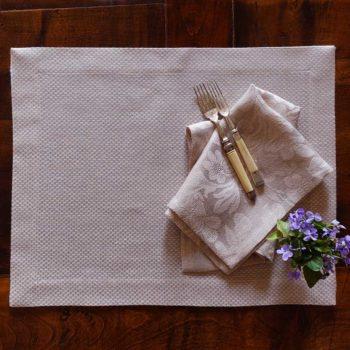 Tovaglietta di lino Micron Rosa la bottega di casa