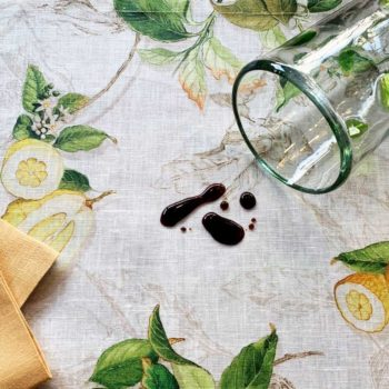Linen placemat with acrylic coating Limoncello