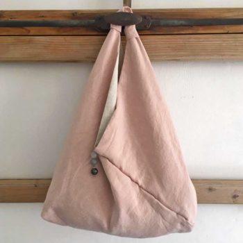 Borsa di lino rosa - La Bottega di Casa