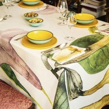 Tablecloth Datura  - La Bottega di Casa