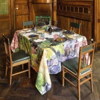 Linen Tablecloth Grapes- La Bottega di Casa