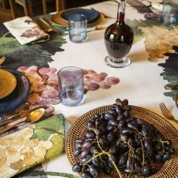 Tovaglia di lino Grapes - La Bottega di Casa