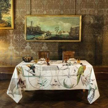 Linen Tablecloth Prickly Pears- La Bottega di Casa