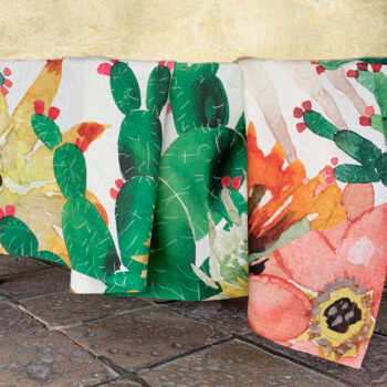 Linen Tablecloth Prickly Pears