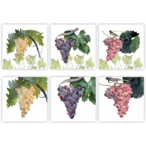 set 6 tovaglioli grapes - La Bottega di Casa