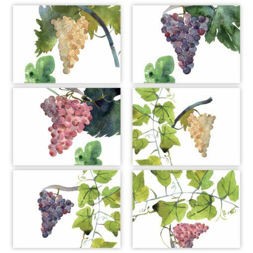 Set di 6 tovagliette e tovaglioli Grapes- La Bottega di Casa