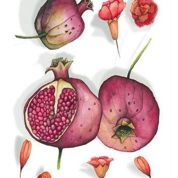 Tea Towel - Pomegranate 1 - La Bottega di Casa